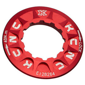 KCNC Lockring for Disc Brake Shimano Centerlock, red